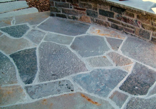 stone and brick patio replacement
