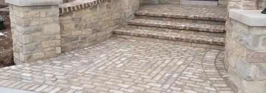 brick masonry patio