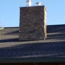 stone and brick chimneys