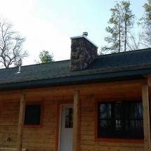 stone chimney installation