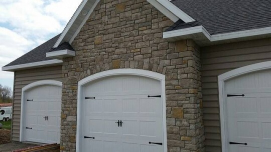 garage-outdoor stone and brick