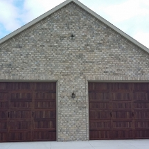 outdoor brick on garage