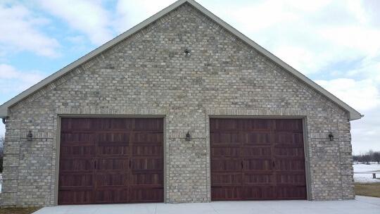 outdoor brick on garage