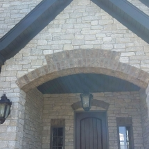 outdoor stone on home