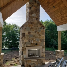 Outdoor Brick Patio w/ Fireplace